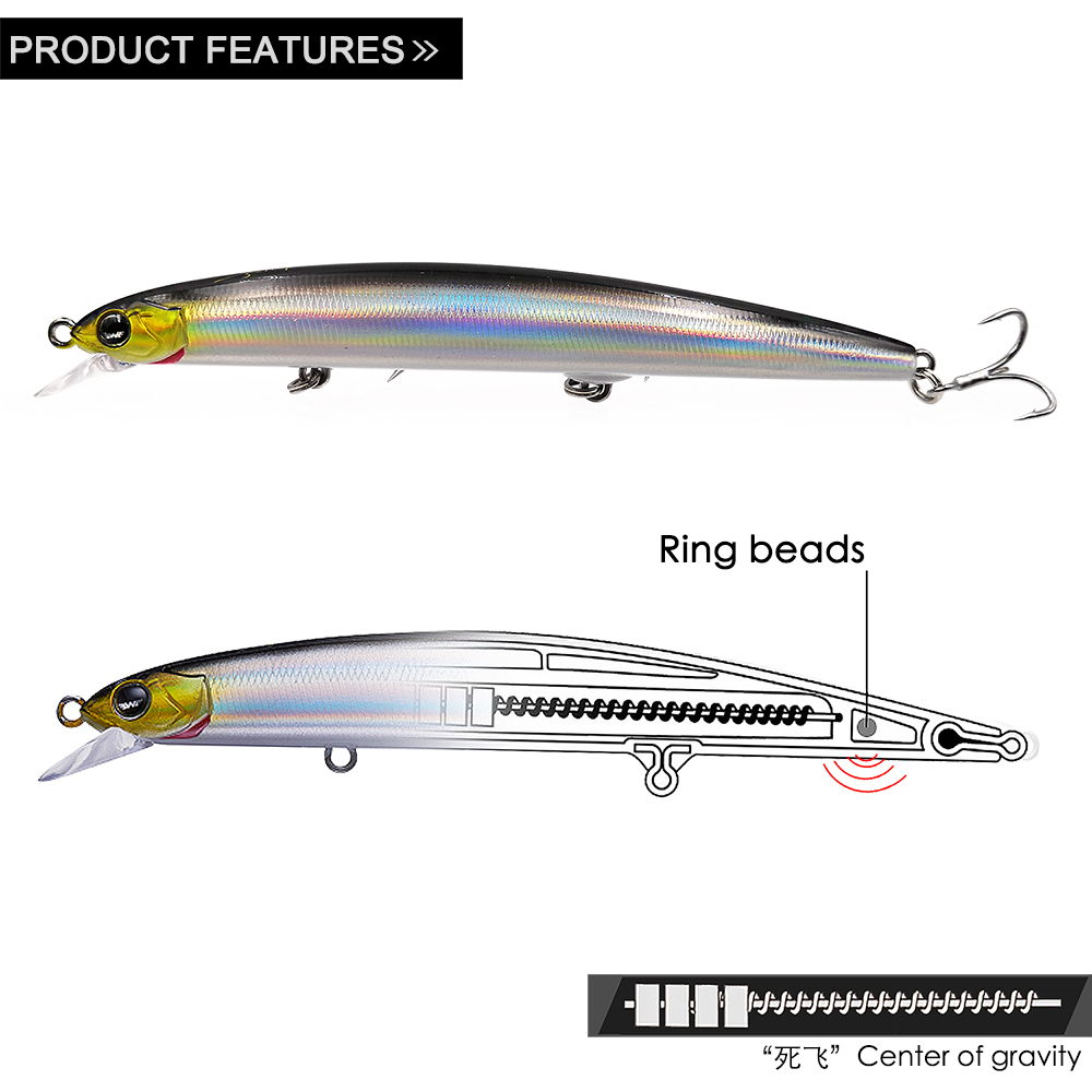 EWE Despot 115F Minnow Fishing Lure 115mm 13g Artificial Fishing Floating Wobblers Bait For Pike Zander Sea Bass Fish