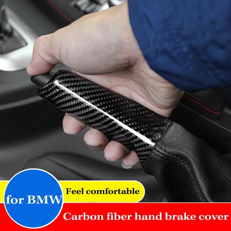 En Fiber De Carbone véritable Intérieur Couvercle de Frein À Main Autocollant pour BMW X1 1 2 3 4 Série GT M3 M4 E90 F20 F21 F30 F34 F32 F35 E84 Etc