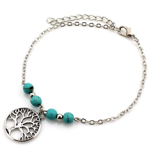 Summer Foot Jewelry Turquoise Bead Anklet For Women Sexy Beach Anklet JK096