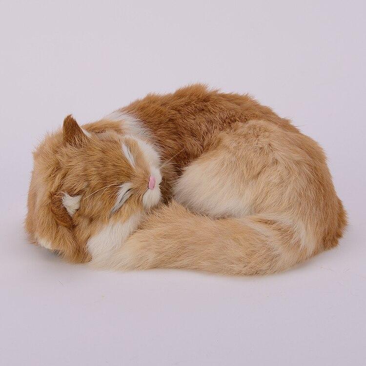 Новый симулятор спящего кота реалистичный креативный желтый кот подарок 25x20x11 см