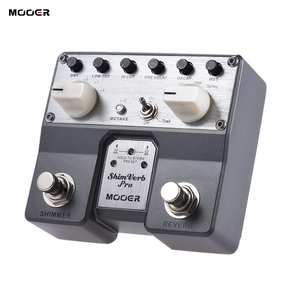 MOOER ShimVerb プロデジタルリバーブギターエフェクトペダルきらめき効果 5 残響モードツインフットスイッチ  グループ上の スポーツ & エンターテイメント からの ギター パーツ & アクセサリー の中 1