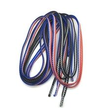 1 Pair Colorful Woven Shoelaces Colors Checkered Flat Shoe laces High Quality 120CM Fashion Unisex Child Adult Shoelace