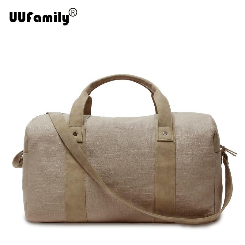 UU Family Mens Linen Large capacity Duffel Bag Travel ...