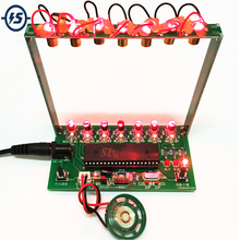 DIY ערכת C51 MCU לייזר נבל ערכת מחרוזת DIY מקלדת ערכת חלקים אלקטרוניים 7 מיתרי אלקטרוני DIY ערכת טכנולוגיה פסנתר תיבת נגינה