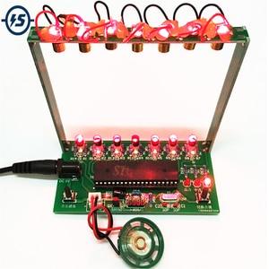 Image 1 - DIY ערכת C51 MCU לייזר נבל ערכת מחרוזת DIY מקלדת ערכת חלקים אלקטרוניים 7 מיתרי אלקטרוני DIY ערכת טכנולוגיה פסנתר תיבת נגינה