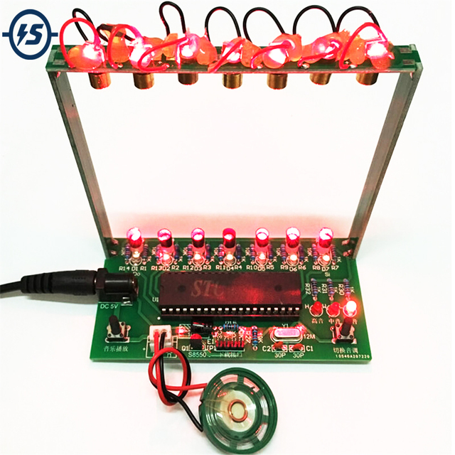 DIY Kit C51 MCU Лазерная арфа комплект гирлянды клавиатуры DIY Kit Электронная Запчасти 7 Строки электронная DIY Kit Технология пианино музыкальная шкатулка