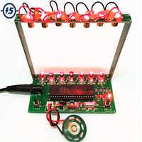 Kit DIY C51 MCU láser arpa Kit cadena DIY Kit Teclado piezas electrónicas 7 cuerdas electrónica DIY Kit tecnología Piano caja de música