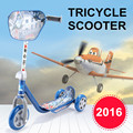 3-17 ages kid scooter with PU 3 wheels tricycle scooters and rear brake baby toy