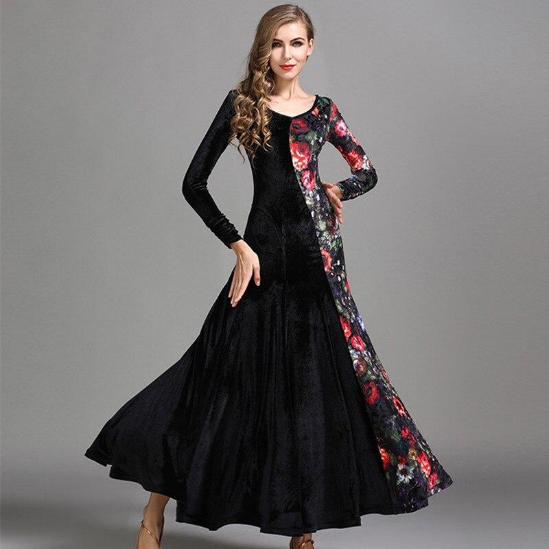 4 couleurs Standard robes de salon valse robe de danse de salon femmes Costumes de danse Flamenco robe de pratique de salon vêtements de danse