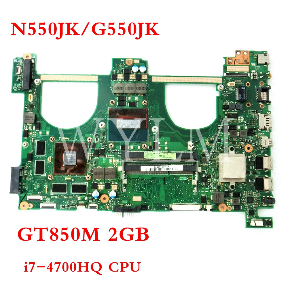 N550JK GT850M 2GB i7-4720HQ mainboard REV2.1 For ASUS Q550JV N550J N550JV N550JK G550JK Laptop motherboard Tested free shipping цены