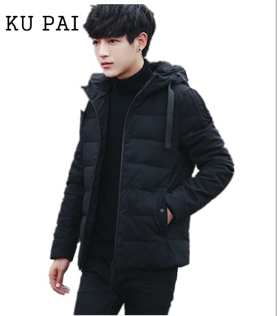 2017 new men's cotton short paragraph thick youth Korean version of the cultivation of winter jacket tide fashion men's clothing 2017 winter version of the new south korean edition of cotton dress short dress and a large size cotton padded jacket