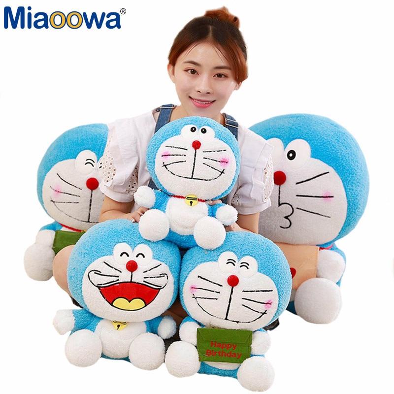 Miaoowa 1pc 30cm Cartoon Figure Plush Doraemon Toys Kawaii Cat Doll Soft Stuffed Animal Baby Toy For Kids Child Birthday Gifts