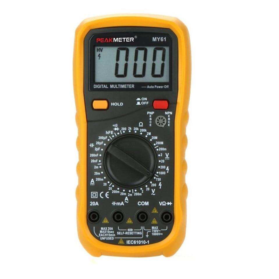MY61 DMM Digital Multimeter AD/DC Capacitance & Transister Test Analog Multimetro LCR Meter Ammeter Multitester digital multimeter w temperature capacitance frequency test lcr meter ammeter analog multitester