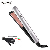 Professional Ceramic Hair Straightener LCD Display Flat Iron Negative Ions Hair Curler Water Transfer Curling Iron