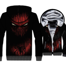 Spider Man Jacket 3D Print Super Hero Hoodie Men Cool Black Hooded Sweatshirt 2018 New Design Winter Thick Fleece Zip up Coat
