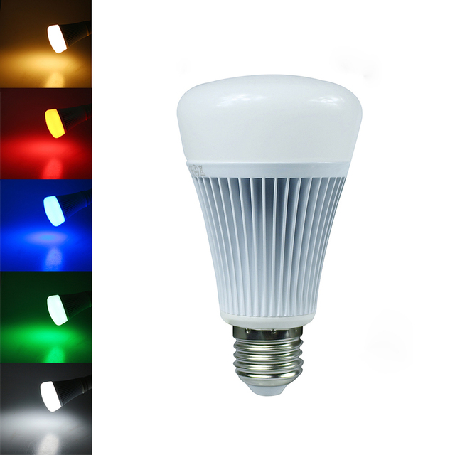 Mi Light Bluetooth 4.0 E27 8W RGBW RGBWW Led Lamp 110V 220V Led Bulb smart lighting lamp color change dimmable For Android IOS