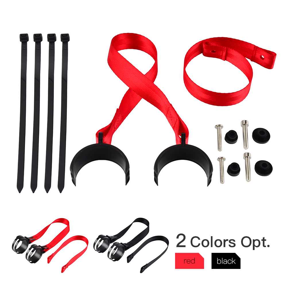 NICECNC Front+Rear Holding Strap Complete Set Tear-Resistant For Enduro 50-70 Mm Dia Fork Pipe For KTM 125 SX 150 XC 200 XCW