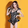 Women Sexy Black bodysuit Singer dancer jumpsuit Stage show Nightclub Sexy female singer dj twirled clothing jazz dance