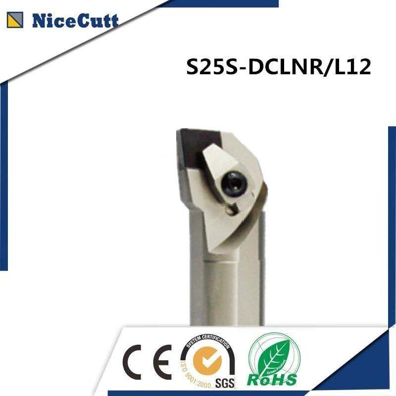 S25S-DCLNR / L12 Nicecutt Portautensili per tornitura interna per inserto CNMG Portautensili per tornio per spedizione gratuita