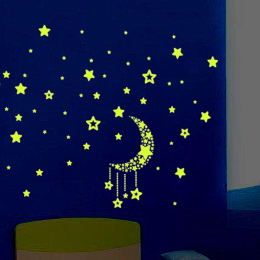 baby kids favor moon night sky glow bedroom ceiling fluorescent