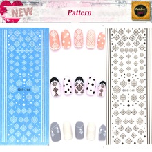 DS264 DS265 Water Transfer Nails Art Sticker Winter Style White Snowflake Nail Wraps Sticker Watermark Fingernails Decals