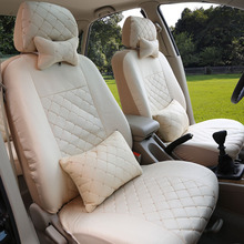 Voor + Achter Universele Auto Seat Cover Voor Chery Qq Fl A1 A3 A5 E3 Tiggo Cowin Fulwin Riich Eastar zijde Materiaal Auto Accessoires