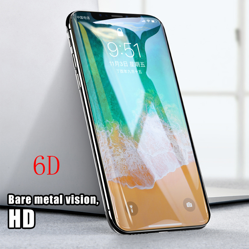 6D Curved Edge Tempered Glass For iPhone X