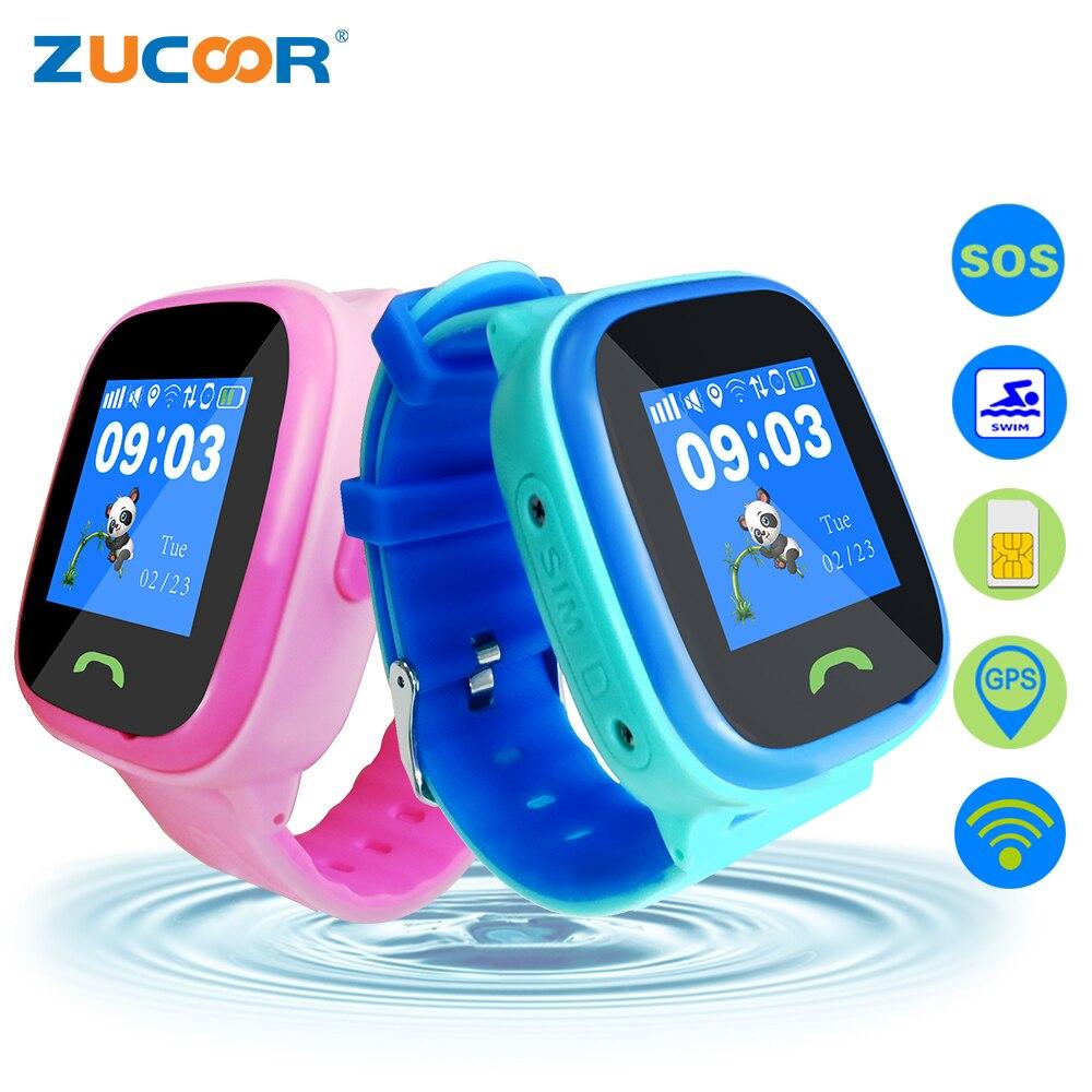 ZUCOOR детская умный ребенок часы ребенок наручные часы GSM GPRS gps трекер Anti-Потерянный ребенок Wi-Fi положение Водонепроницаемый часы