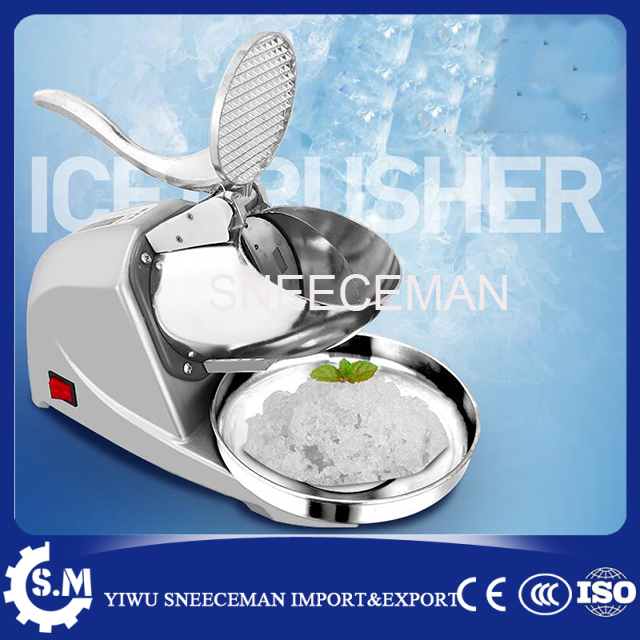 85kg/h commercial stainless steel electric bar ice crusher automatic ice shaver making machine ice crusher summer sweetmeats sweet ice food making machine manual fruit ice shaver machine zf