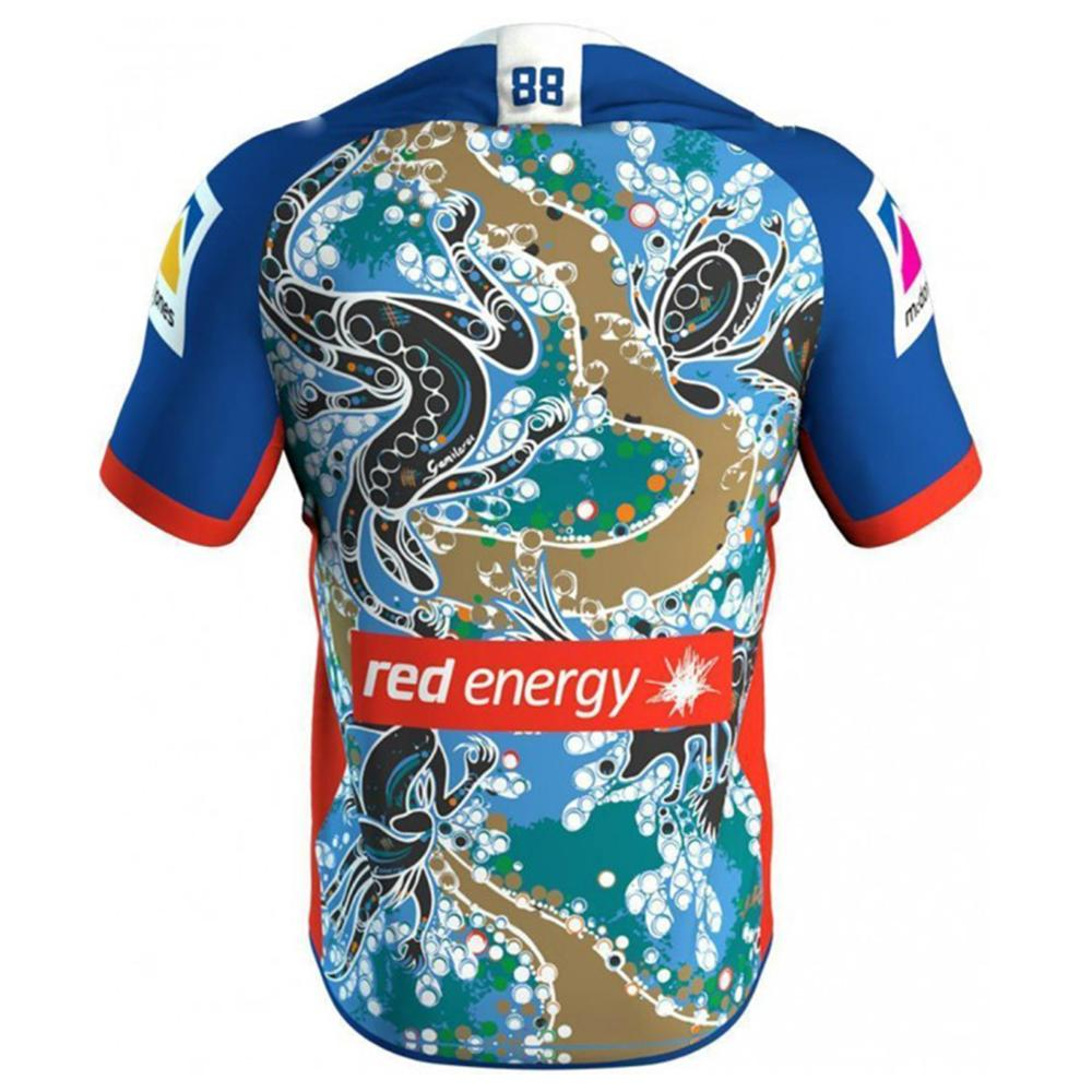 wholesale dealer 4e9d3 44187 RESYO for Newcastle Knights 2019 Men's Replica Indigenous ...