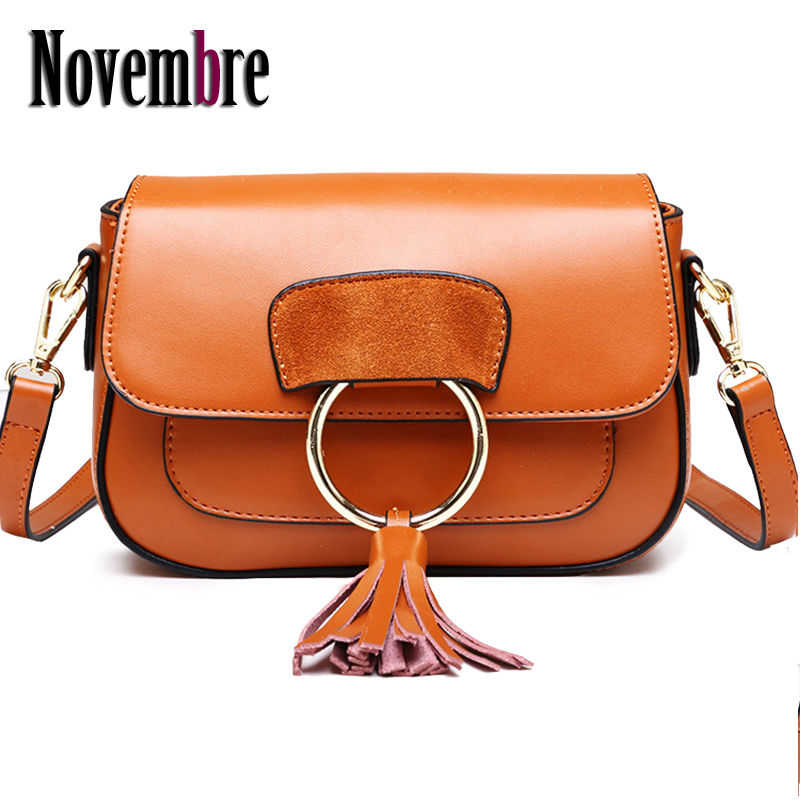 2017 New Fashion Genuine Leather women's Messenger Bag women's handbags bag ladies Saddle women bag Crossbody luxury Tassel sa212 saddle bag motorcycle side bag helmet bag free shippingkorea japan e ems
