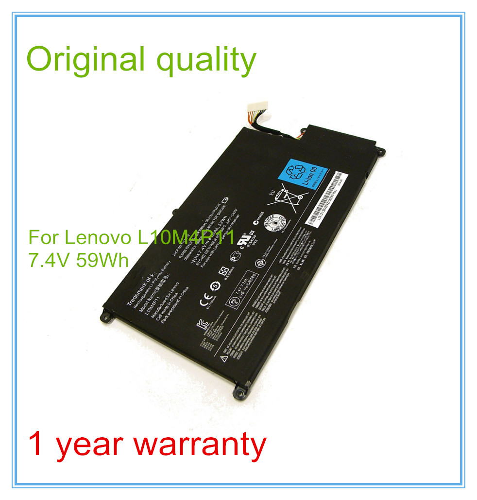 Original Laptop Battery for Original U410 batteries L10M4P11 7.4V 59WH 3 75v 9000mah new original laptop battery for yoga 10 tablet b8000 10 battery l13d3e31 l13c3e31 batteries free shipping