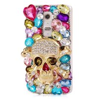 3D Luxury Fur Pink Flower Lipstick Color Sparkle Rhinestone Bling Diamond Gem Case For LG G5