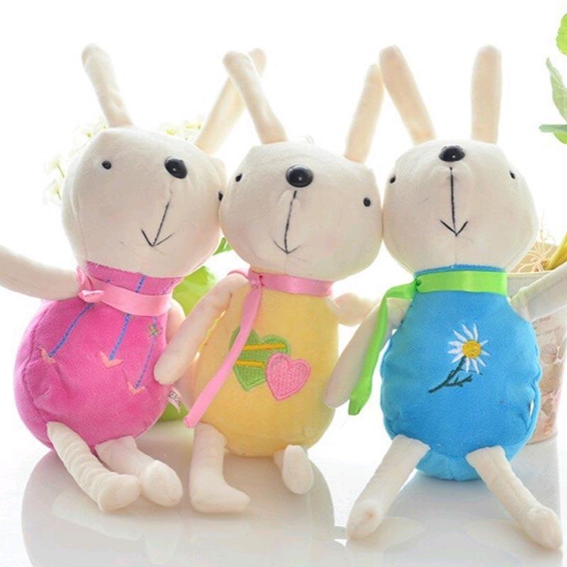1 pièce peluche lapin jouets mignon lièvre petite peluche poupée cadeau de noël mignon peluche jouet pour enfants cadeau 15/22 cm nouvel an cadeaux