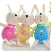 1PIECE Plush rabbit toys cute hare small plush doll Christmas gift cute plush toy for kids gift 15/22cm new year gifts