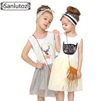 Girl Dress With Bag Summer 2016 Children Girls Clothes Kids Cute Brand Designer Tutu Dress For