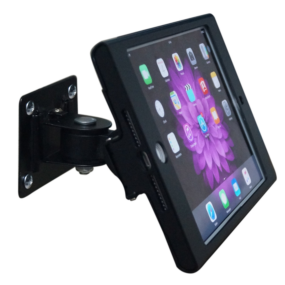 Tablet Stand with Lock Wall Mount Metal Holder Security Display Bracket Screen 360 Rotating Tilt Adjust