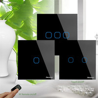 EU UK Standard SESOO Touch Wall Light Switch 1 Gang 2 Gang 3 Gang 1 Way