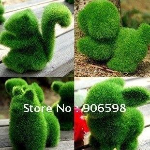 Grass Land Cute Small Animals Artificial Grass Animals Design Decorations Can Relieve Eye Fatigue Artificial Turf