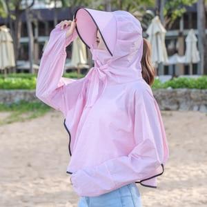 Image 3 - BINGYUANHAOXUAN 2019 ใหม่ UV ครีมกันแดดโปร่งใสเสื้อผ้าเสื้อแขนยาวผู้หญิงชายหาดป้องกันดวงอาทิตย์   ups