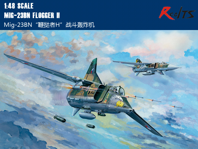 RealTS Trumpeter 1 48 05801 Mig 23BN Flogger H Plastic Model Aircraft Kit