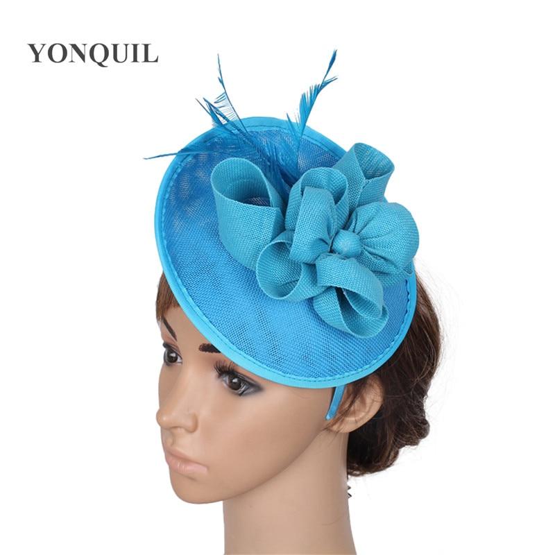 Royal Blue Hair Fascinators For Short Hair Imitation Sinamay Fascinators Hats Wedding Hair Accessories High Quality 22 Colors Fascinators Hats Weddings Fascinator Hatsfascinator Blue Aliexpress