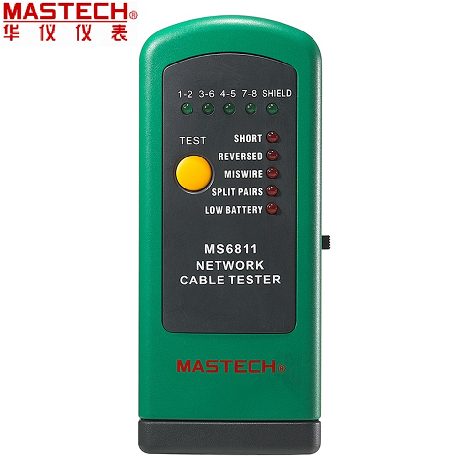 Mastech MS6811 Handheld Network Cable Tester Line Tracker UTP and STP wiring Test Meter