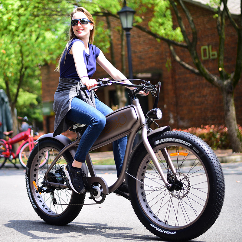 26inch eletric bicycle Snow electric ebike 4.0 fat tire Detachable expansion of external electric three-wheeled off-road ATV 1