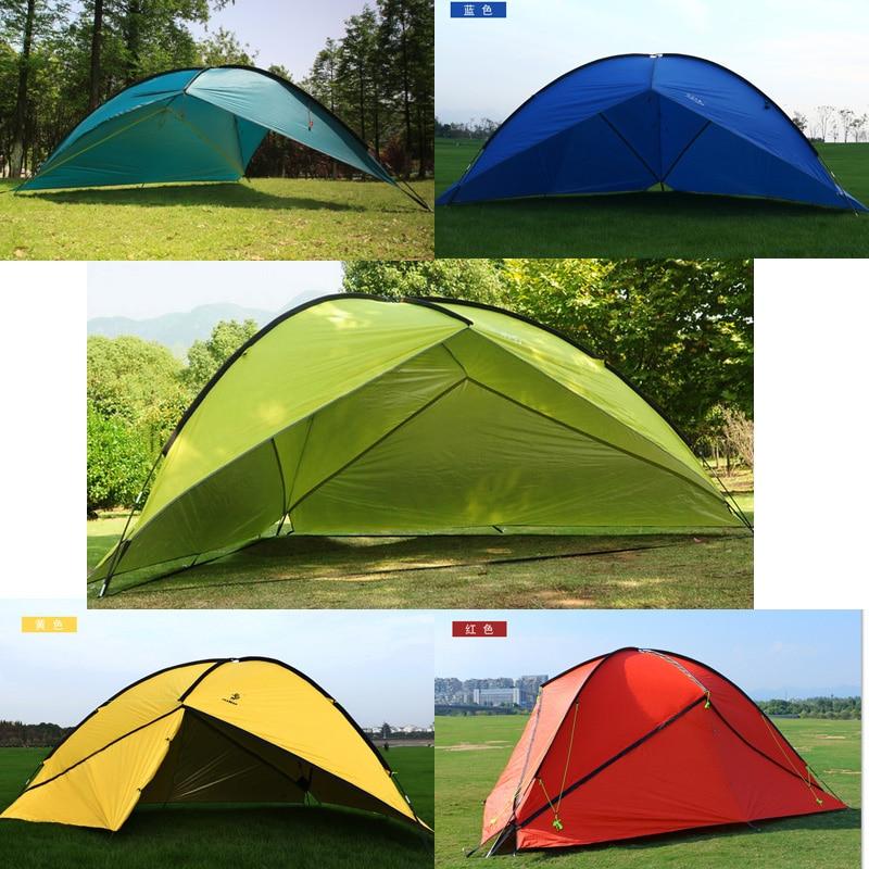 Hillman outdoor großen raum dreieck sonnenschirm camping zelt mehrere familien strand sonnenschirm markise 1 wand / 2 wand / 3 wand für wählen