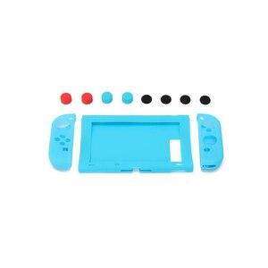 Image 5 - 10 шт., мягкий силиконовый чехол для геймпада + защитный чехол для консоли + ручки для джойстика, крышка для переключателя NY Joy con