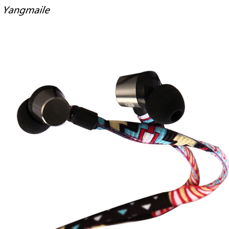 Yangmaile Colorful 3.5mm In-Ear Stereo Earbuds Earphone Headset MIC For Iphone Free Shipping H10T2 mllse anime fairy tail cartoon in ear earphone portable aux wired stereo earbuds sport mic headset for iphone samsung xiaomi mp3