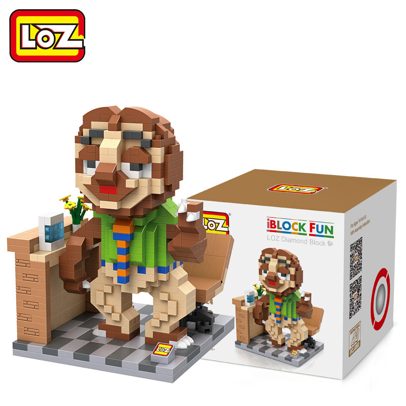 LOZ Diamant Blocs Renard Lapin Mini Blocs Juguetes Anime Action Figure Film Building Block Enfants Bricolage Jouets 9724