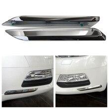 цена на Front Bumper Chrome For Citroen For Peugeot C5 2008 2009 2010 2011 2012 2013 2014 2015 Car Silver Trim Strip Decoration Cover