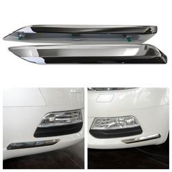 Front Bumper Chrome For Citroen For Peugeot C5 2008 2009 2010 2011 2012 2013 2014 2015 Car Silver Trim Strip Decoration Cover